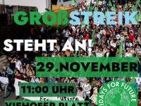 Großer Klimastreik am 29.11.2019 um 11:00 Uhr, Viehofer Platz