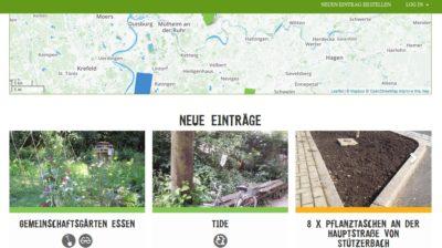 Screenshot der alternativen Online-Plattform Grünanteil.net