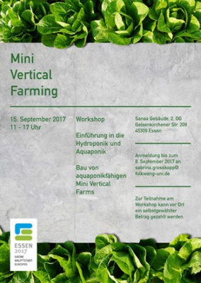 Mini Vertical Farming – Workshop