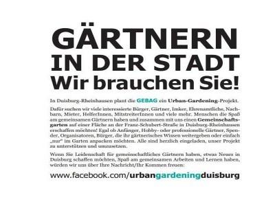 Urban Gardening Duisburg-Rheinhausen