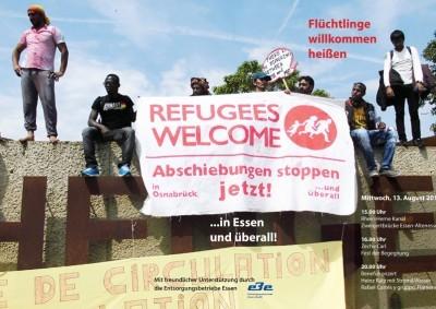Flüchtlinge willkommen heißen